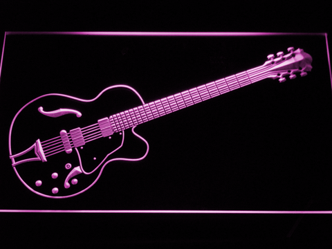 Image of Ibanez Artcore AF75 LED Neon Sign - Purple - SafeSpecial