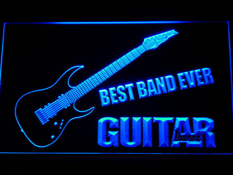 Ibanez Guitar Best Band Ever LED Neon Sign - Blue - SafeSpecial