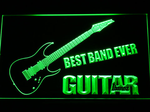 Ibanez Guitar Best Band Ever LED Neon Sign - Green - SafeSpecial
