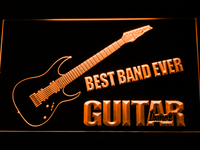 Ibanez Guitar Best Band Ever LED Neon Sign - Orange - SafeSpecial