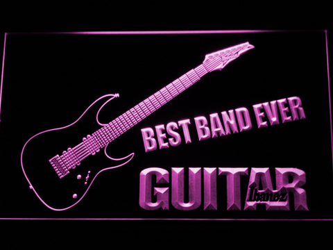 Image of Ibanez Guitar Best Band Ever LED Neon Sign - Purple - SafeSpecial