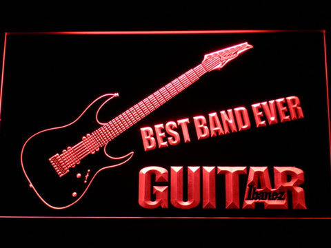 Ibanez Guitar Best Band Ever LED Neon Sign - Red - SafeSpecial