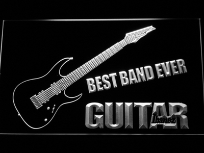 Ibanez Guitar Best Band Ever LED Neon Sign - White - SafeSpecial
