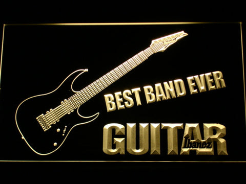 Ibanez Guitar Best Band Ever LED Neon Sign - Yellow - SafeSpecial