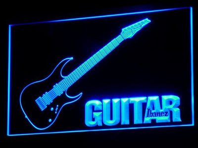 Ibanez Guitar LED Neon Sign - Blue - SafeSpecial