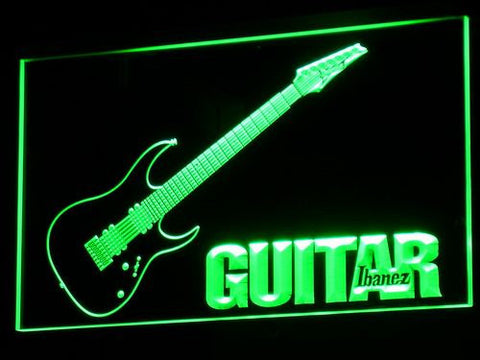 Image of Ibanez Guitar LED Neon Sign - Green - SafeSpecial