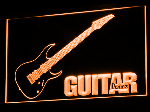 Image of Ibanez Guitar LED Neon Sign - Orange - SafeSpecial