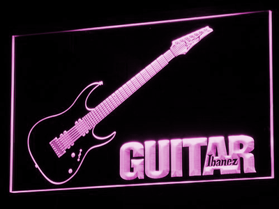 Ibanez Guitar LED Neon Sign - Purple - SafeSpecial