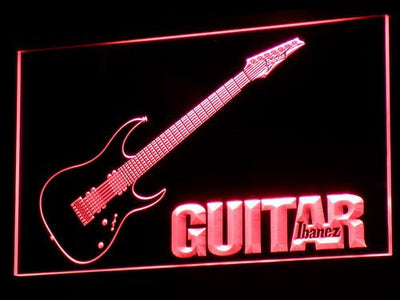 Ibanez Guitar LED Neon Sign - Red - SafeSpecial