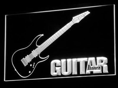 Ibanez Guitar LED Neon Sign - White - SafeSpecial