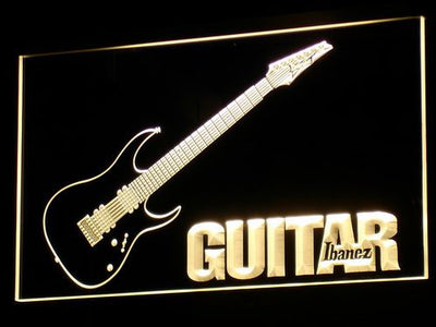 Ibanez Guitar LED Neon Sign - Yellow - SafeSpecial