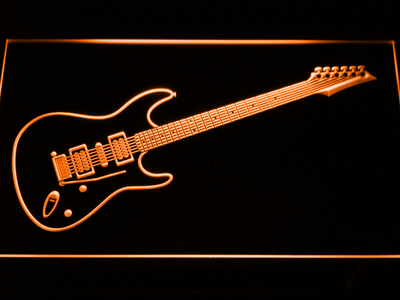 Ibanez Saber S470 LED Neon Sign - Orange - SafeSpecial
