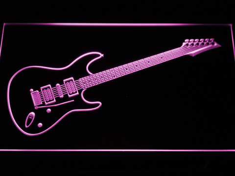 Image of Ibanez Saber S470 LED Neon Sign - Purple - SafeSpecial