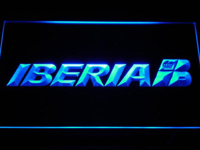Iberia LED Neon Sign - Blue - SafeSpecial