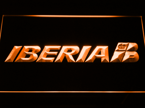 Iberia LED Neon Sign - Orange - SafeSpecial
