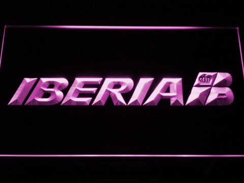Iberia LED Neon Sign - Purple - SafeSpecial