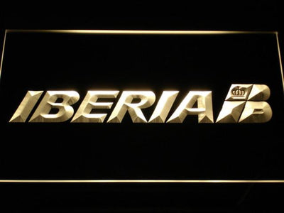 Iberia LED Neon Sign - Yellow - SafeSpecial