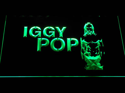 Iggy Pop LED Neon Sign - Green - SafeSpecial