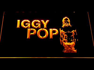 Iggy Pop LED Neon Sign - Yellow - SafeSpecial