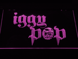 Iggy Pop Skull Ring LED Neon Sign - Purple - SafeSpecial
