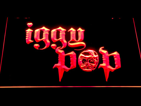 Iggy Pop Skull Ring LED Neon Sign - Red - SafeSpecial