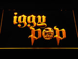 Iggy Pop Skull Ring LED Neon Sign - Yellow - SafeSpecial