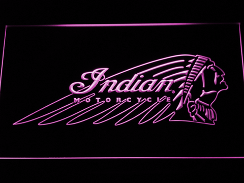 Indian Chief LED Neon Sign - Purple - SafeSpecial