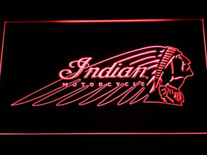 Indian Chief LED Neon Sign - Red - SafeSpecial