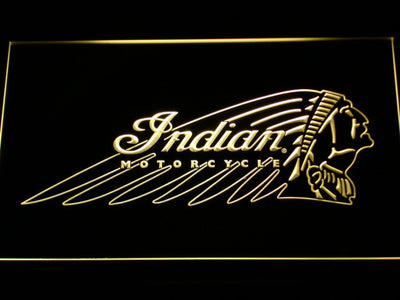 Indian Chief LED Neon Sign - Yellow - SafeSpecial