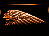 Indian Chief Left Facing LED Neon Sign - Orange - SafeSpecial