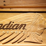 Indian Chief Wooden Sign - - SafeSpecial