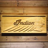 Indian Chief Wooden Sign - Small - SafeSpecial