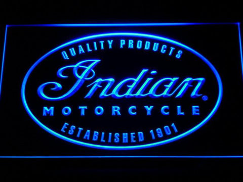 Indian Established 1901 LED Neon Sign - Blue - SafeSpecial