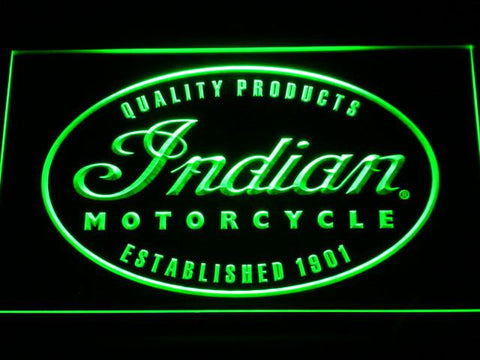 Indian Established 1901 LED Neon Sign - Green - SafeSpecial