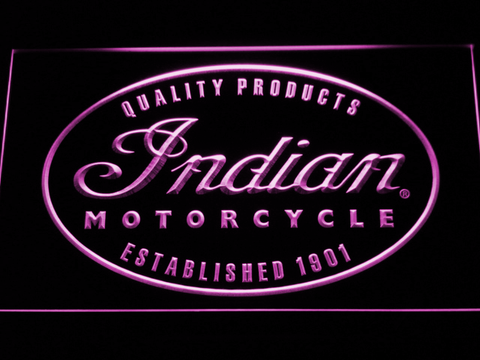 Indian Established 1901 LED Neon Sign - Purple - SafeSpecial