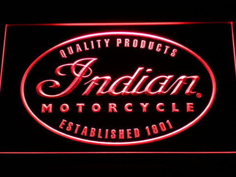 Indian Established 1901 LED Neon Sign - Red - SafeSpecial