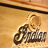 Indian Old Logo Wooden Sign - - SafeSpecial