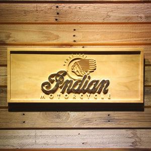 Indian Old Logo Wooden Sign - Small - SafeSpecial