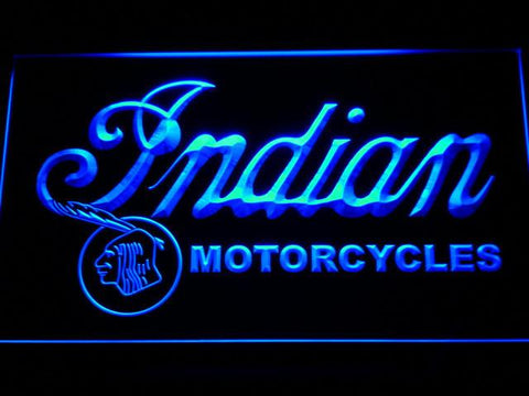 Indian Old Wordmark LED Neon Sign - Blue - SafeSpecial