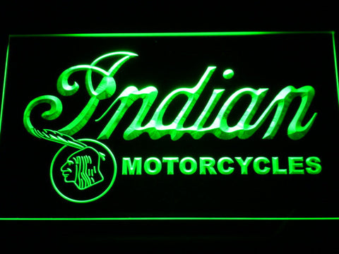 Indian Old Wordmark LED Neon Sign - Green - SafeSpecial