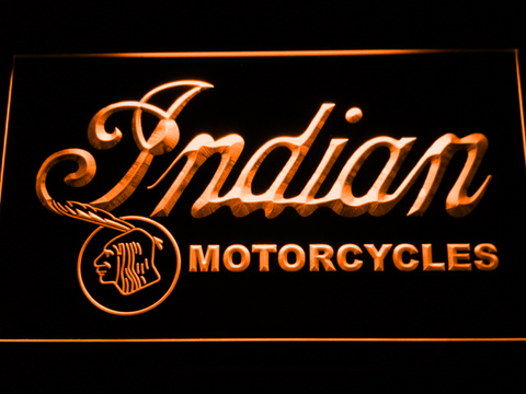 Indian Old Wordmark LED Neon Sign - Orange - SafeSpecial