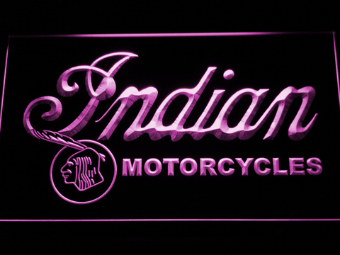 Indian Old Wordmark LED Neon Sign - Purple - SafeSpecial