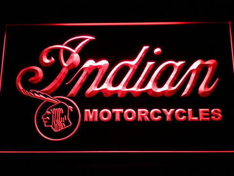Indian Old Wordmark LED Neon Sign - Red - SafeSpecial