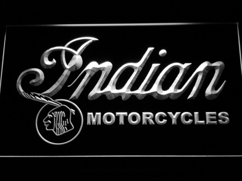 Indian Old Wordmark LED Neon Sign - White - SafeSpecial