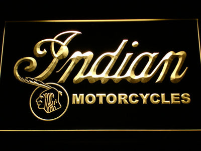 Indian Old Wordmark LED Neon Sign - Yellow - SafeSpecial