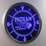 Indian Parts & Services LED Neon Wall Clock - Blue - SafeSpecial