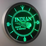 Indian Parts & Services LED Neon Wall Clock - Green - SafeSpecial