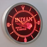 Indian Parts & Services LED Neon Wall Clock - Red - SafeSpecial