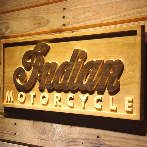 Image of Indian Wooden Sign - - SafeSpecial