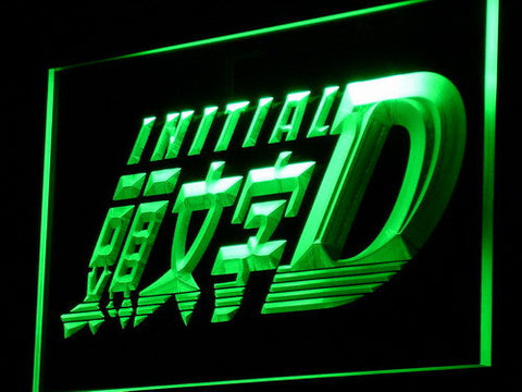 Initial D LED Neon Sign - Green - SafeSpecial